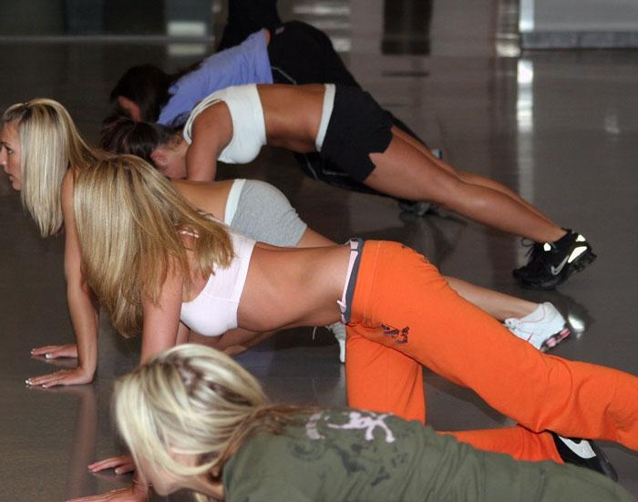Eagles Cheerleaders Workout